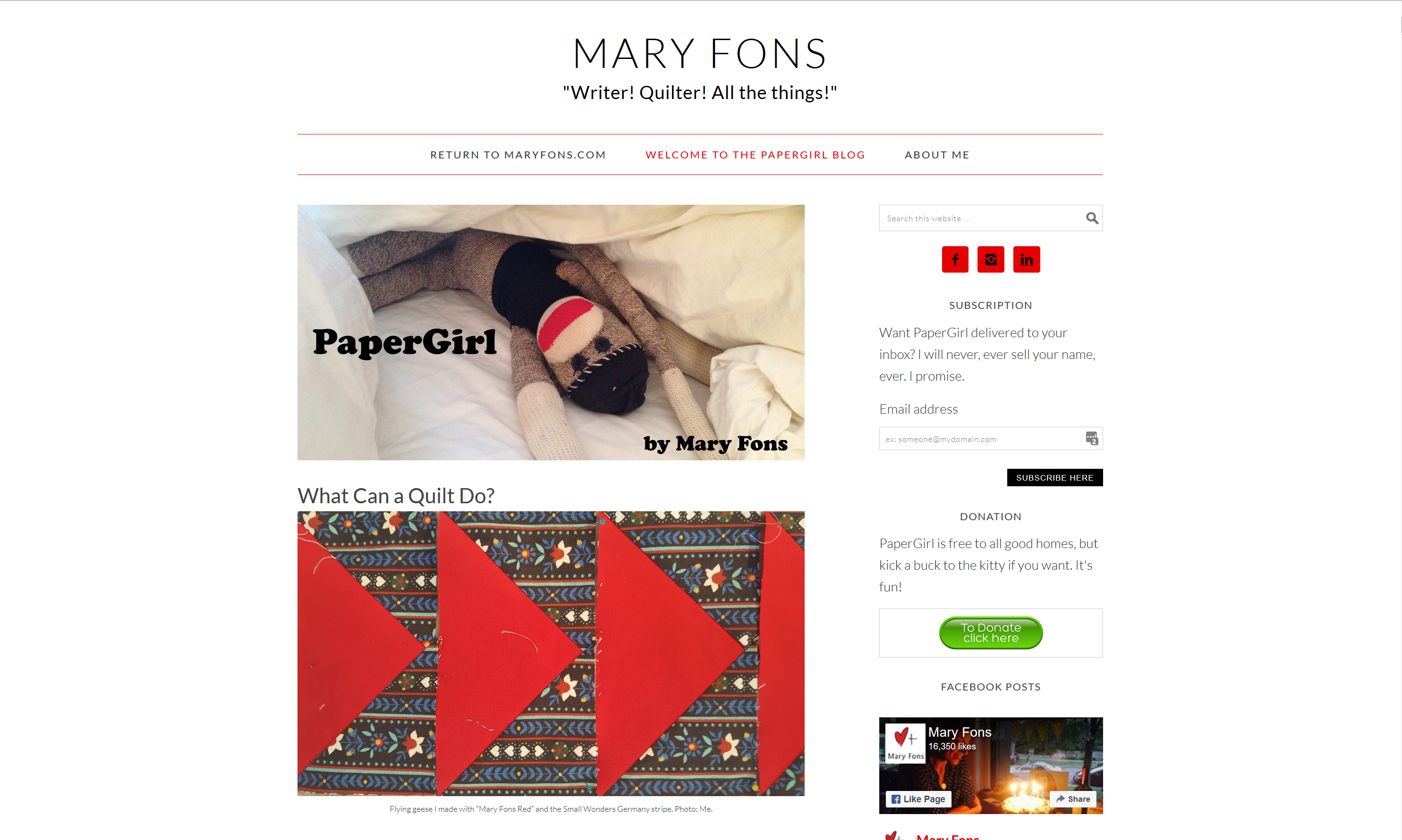 Mary Fons Papergirl Blog